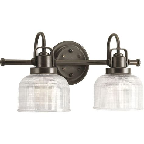 home depot canada bathroom vanity lights progress lighting archie collection venetian bronze 2