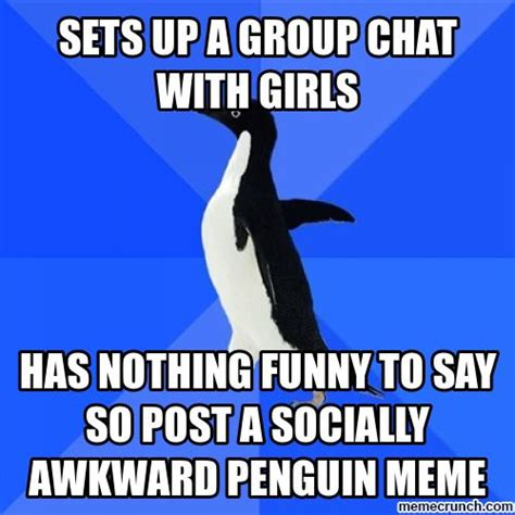 Penguin Meme Generator - group chat meme