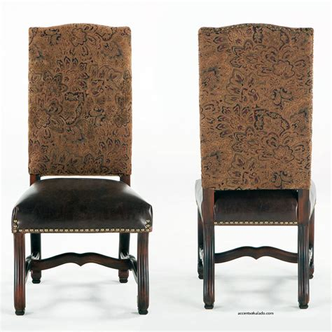 world dining room chairs dining chairs old world antigua with leather seat