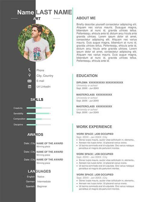 artist resume template    word format