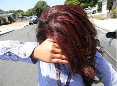 Chocolate Brown With Red Highlights!! Beautiful