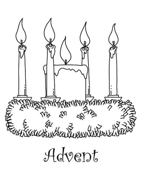 advent wreath coloring page christmas pinterest