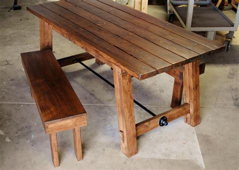 hand  farmhouse table  sb designs custommadecom