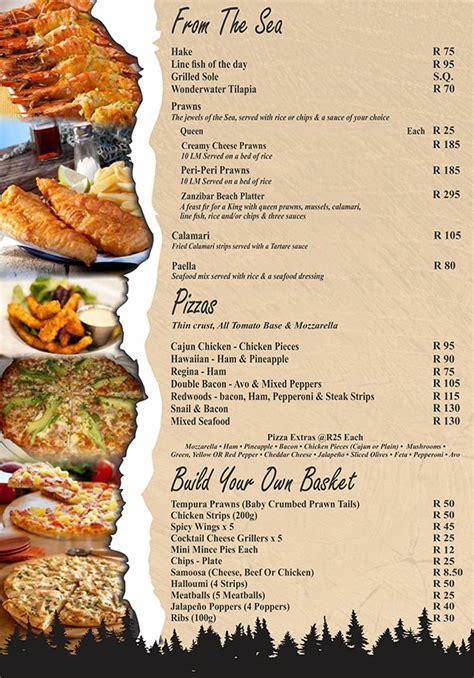 Menu/Specials - Redwoods Restaurant