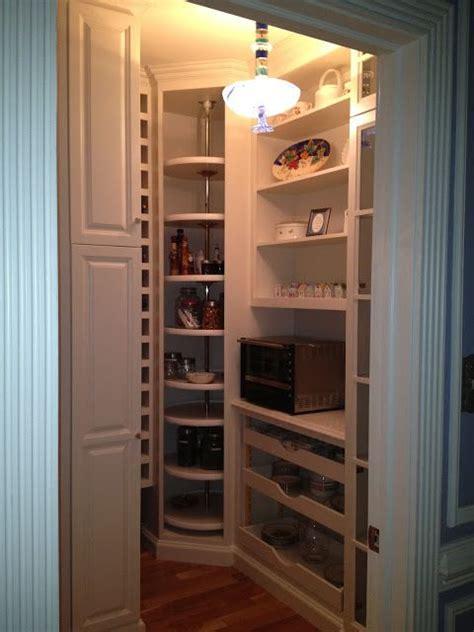 walk  pantry  built  drawers  corner lazy susan