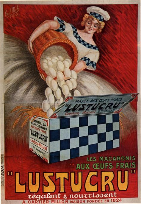 ancienne publicité pour les macaronis lustucru une