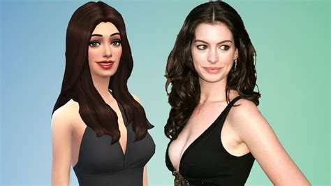 Anne Hathaway * Best Celebrity Sims Of The Sims 4