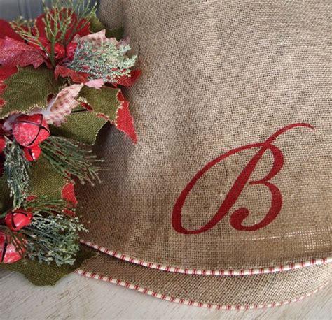 39 quot custom initial monogram natural burlap christmas tree