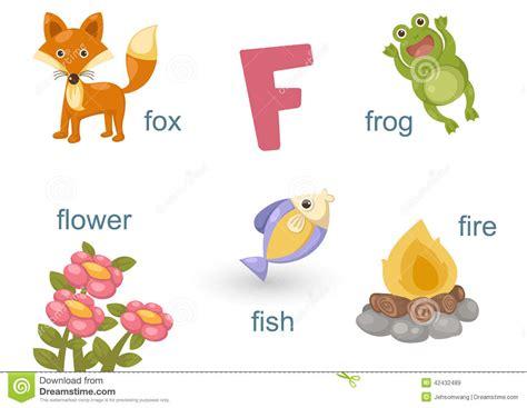 alphabet  stock vector illustration  letter animal