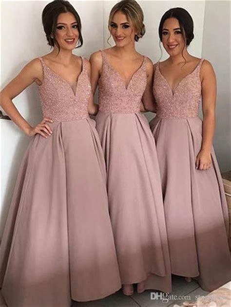 blush cheap country bridesmaid dresses   neck top