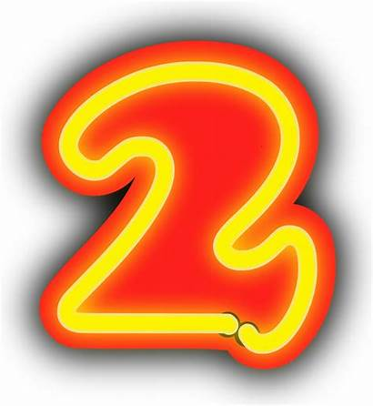 Neon Number Clipart Numbers Numerals Numeral Background