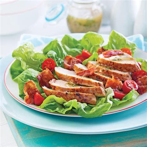 cuisine recettes pratiques salade blt au poulet recettes cuisine et nutrition