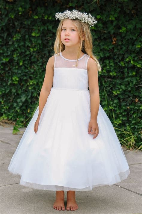 White Flower Girl Dresses - Girls Dress Line