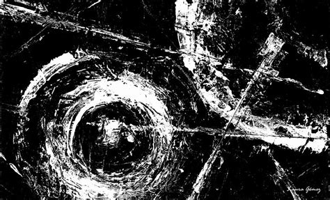 Abstract Painting Black And White by Save The Planet Black And White Horizontal Formal