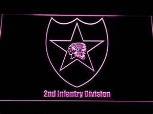 US Army 2nd Infantry Division LED Neon Sign | SafeSpecial