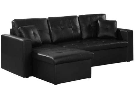 canapé simili cuir convertible pas cher canapé d 39 angle convertible noir pas cher