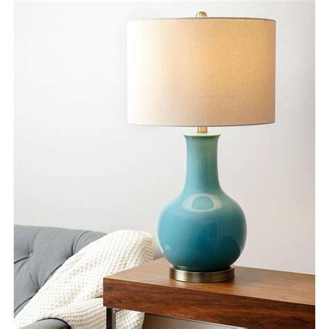 abbyson gourd turkish blue ceramic table l by abbyson