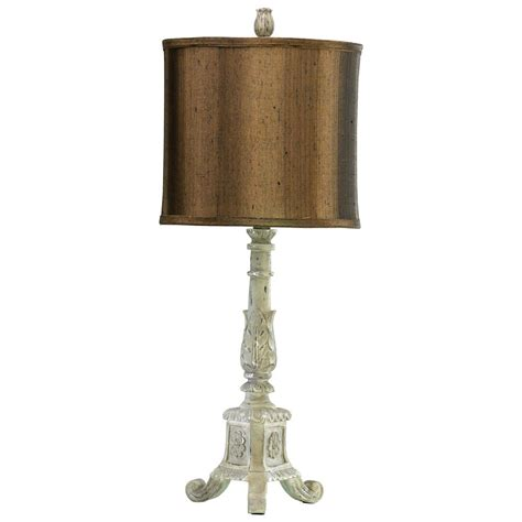 does shades of light ever have sales french country distressed white brown shade table l