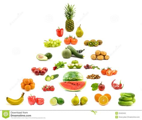 pyramid  fruits  vegetables stock photography