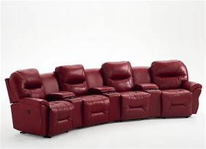 Best home bodie family theater seating sofa sectional leather for Sectional sofa for home theater