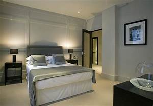 paneling for walls Bedroom Contemporary with bed skirt