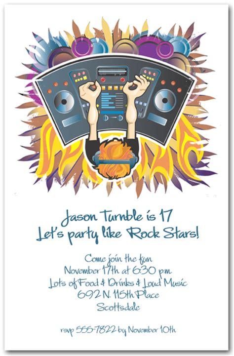dj console  invitations