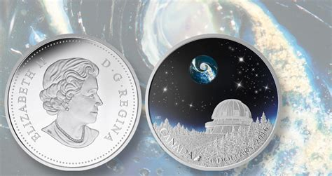 royal canadian mint coin has color glass glow paint