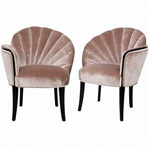 Pair Of 192039s Art Deco Shell Back Boudoir Chairs At 1stdibs