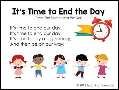goodbye songs for preschoolers 767 | end our day