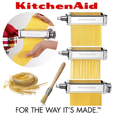 kitchenaid kpra machine a pates kitchenaid de luxe pasta roller set 5ksmpra cookfunky