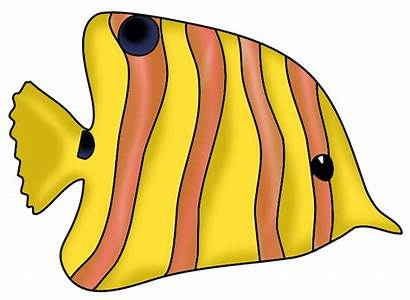 Fish Clipart Clip Colorful Drawings Funny Tropical