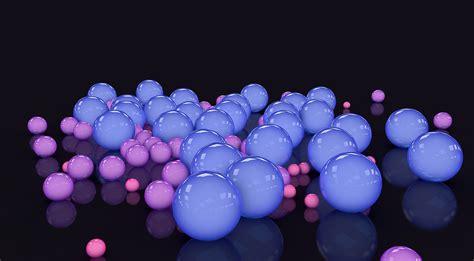 le de bureau neon fond ecran hd abstrait digital spheres bleu et