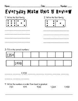 this edm second grade unit 5 review can be used as a