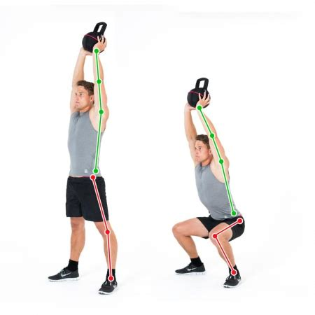 squat overhead kettlebell exercise legs exercises buttocks abs disease physical shoulders training parkinson