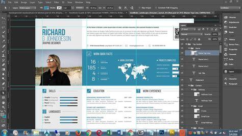customise cv resume template  photoshop