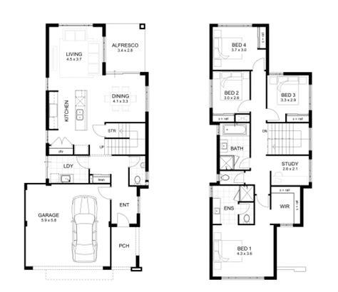 2 storey house plans wonderful storey 4 bedroom house designs perth apg