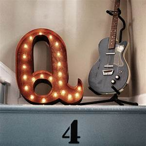 rusty 24 inch letter q marquee light by vintage marquee lights With vintage light up marquee letters
