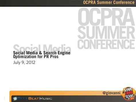 Social Engine Optimization - social media search engine optimization for pr pros