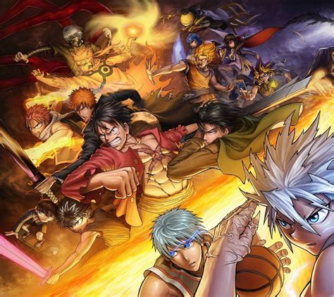 Anime Crossover Wallpaper - 61 best free all anime crossover wallpapers wallpaperaccess