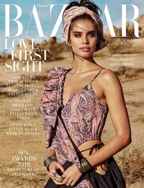 sara sampaio  harpers bazaar singapore cover february