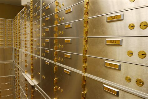 safety deposit boxes  store important papers
