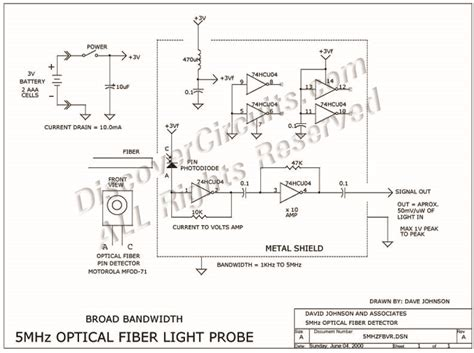 Circuit Broad Band Mhz Optical Fiber Receiver Circuits