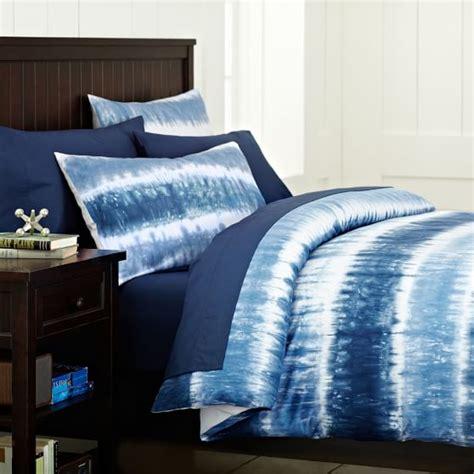 Blue Tie Dye Bedding by Reef Tie Dye Duvet Sham Navy Pbteen