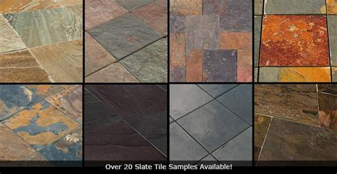 slate tile vs travertine vs porcelain flooring tiles