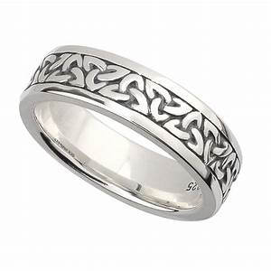 irish wedding band sterling silver ladies celtic trinity With ladies celtic wedding rings