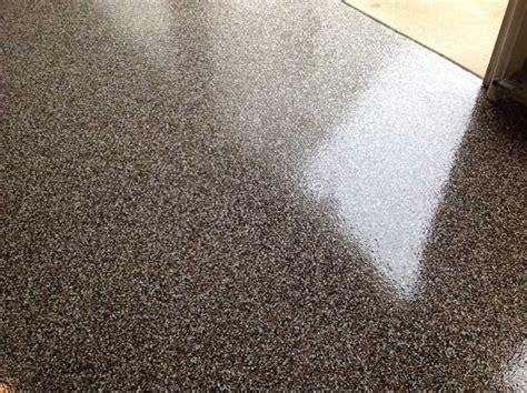 Granite Garage Floor in Cary NC   Full Flake Broadcast