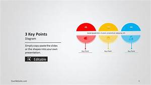 3 Key Points Powerpoint Diagram
