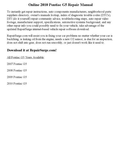 online car repair manuals free 2008 saab 42072 navigation system 2010 pontiac g5 repair manual online by part george issuu