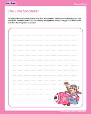 The Little Storyteller  Free 2nd Grade English Worksheet Jumpstart