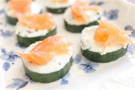 canapes for easy canapes salmon cucumber and cheese
